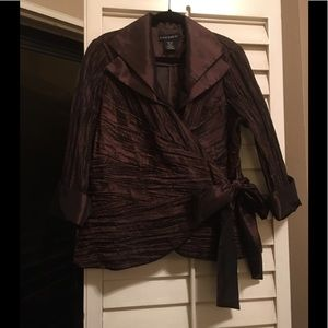 Chocolate Brown Evening Blouse